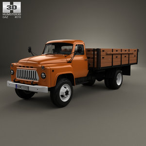 3d gaz 53 flatbed model