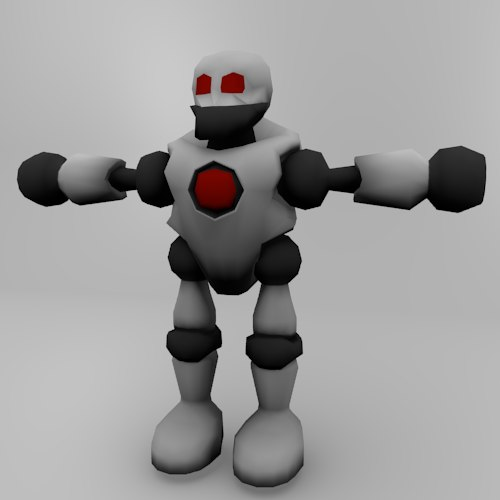 3d 3ds cartoon robot