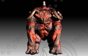 3d frog bull model