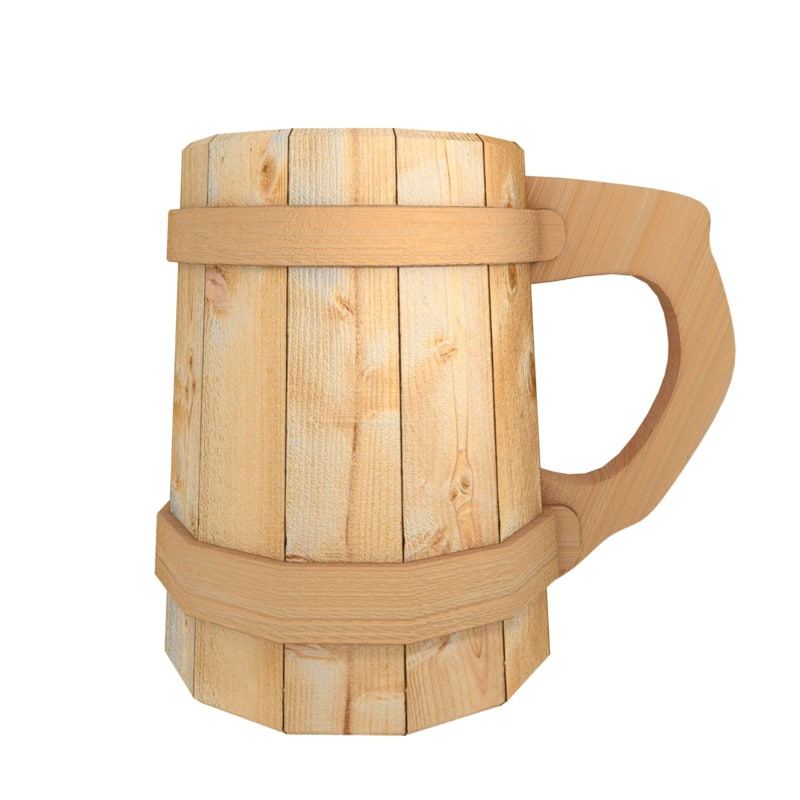 wooden beer mug 3d max