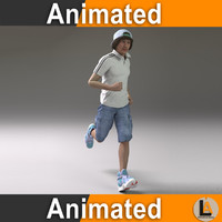 male jogging 3D model