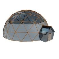 3d model geodesic houses