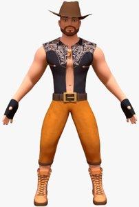 cowboy cow boy 3d model