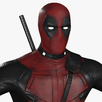 3d deadpool modeled movie model