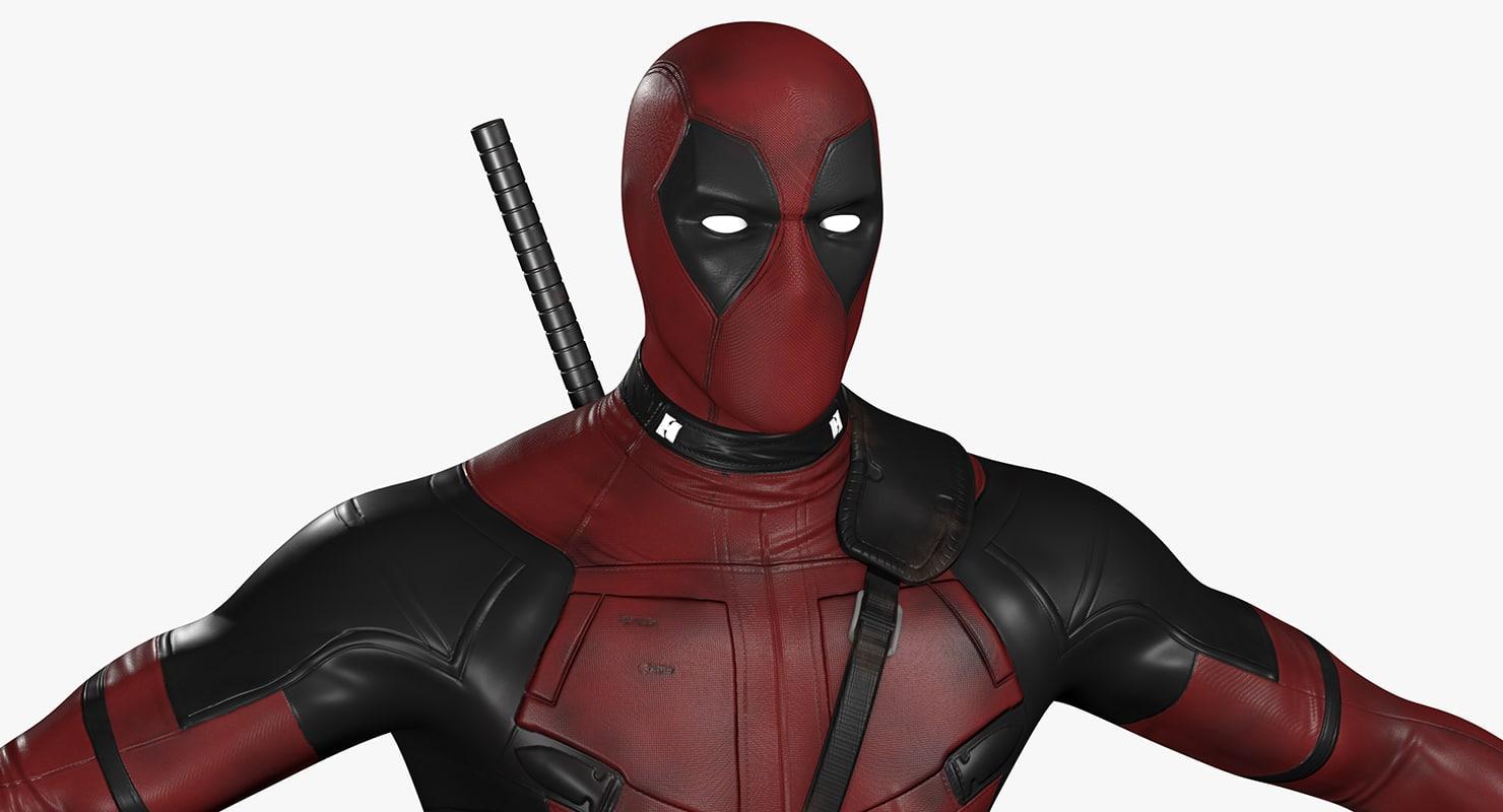 3d deadpool modeled movie model