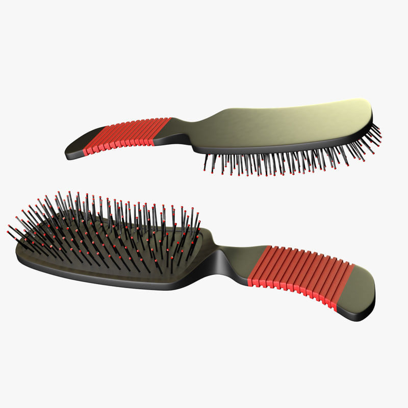 3d model hair brush