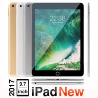 new 9 ipad 2017 3D model