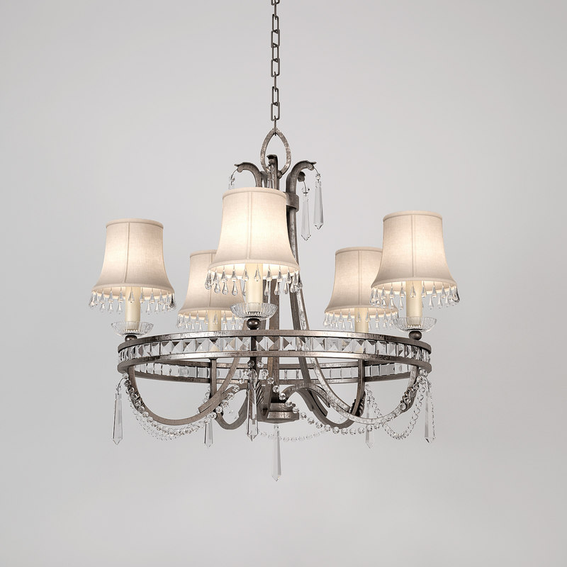 3d fine art lamps chandelier model
