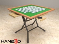 Mahjong table + Mahjong pieces