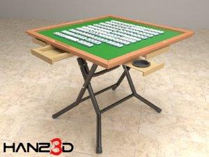3D mahjong pieces