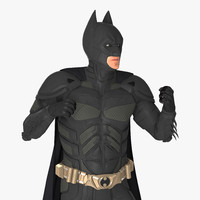 3D batman fighting pose model
