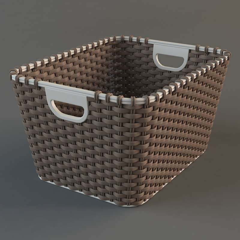 realistic wicker basket max