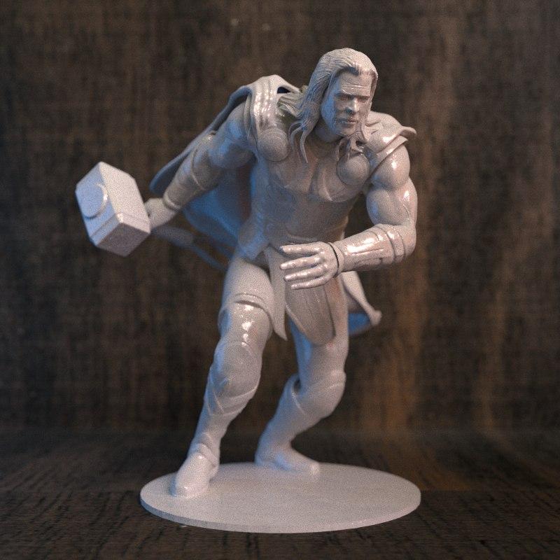 thor action figure 3d model