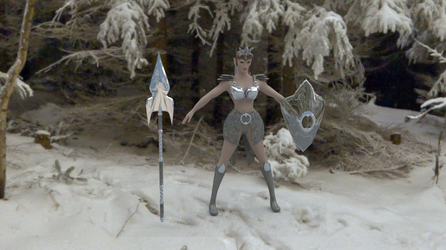 3D spear armor