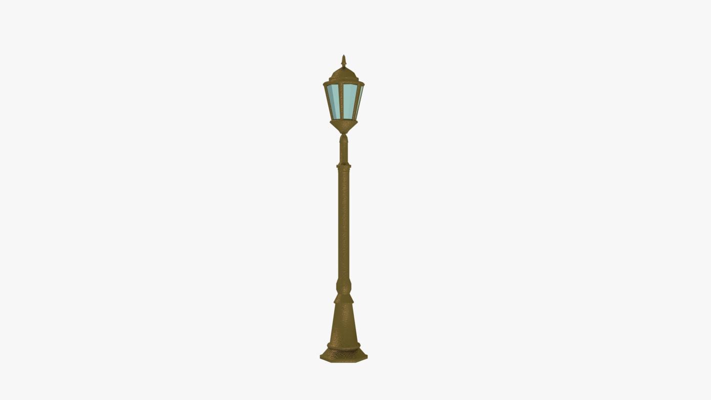 streetlight lights 3d obj