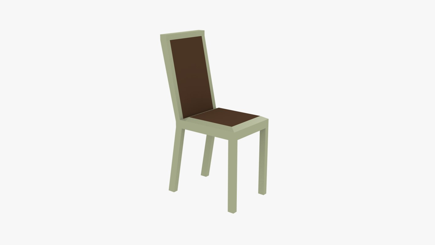 3d chair 70 faces