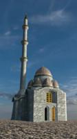 medieval mosque exterior interior 3d model