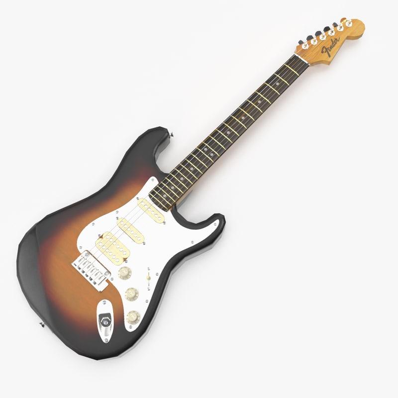 fender guitar 3d max