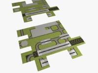 modules airport runways taxiways 3d obj