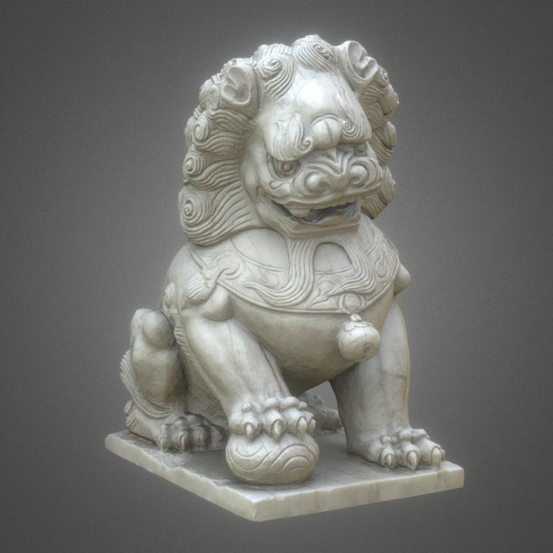 3d 8k guardian lions foo model
