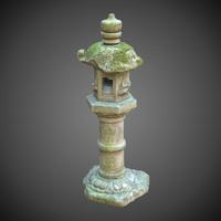 3d japan lantern stone japanese architecture model