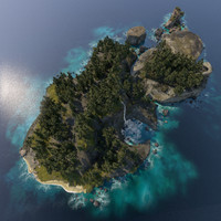 3D archipelago islands