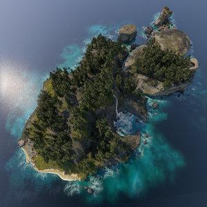 3D archipelago islands