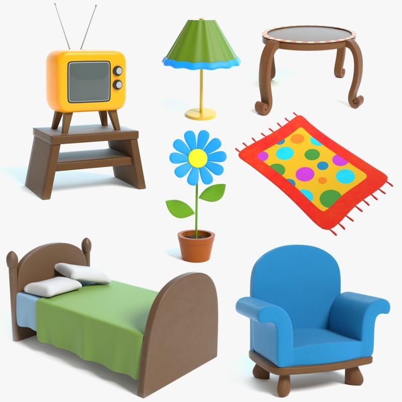 3D model cartoon furniture chair