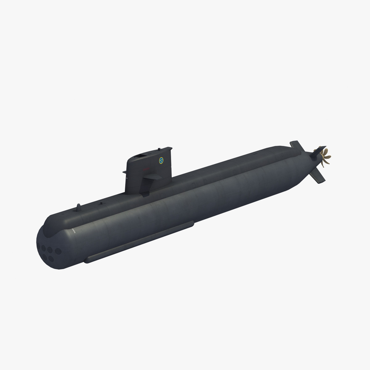 gotland attack submarine 3D model