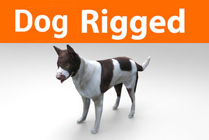 german shepherd dog rigged 3D