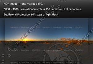 SUNRISE AT ANZA-BORREGO DESERT, 360 PANORAMA #558