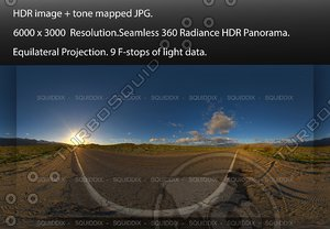 SUNRISE OVER ANZA-BORREGO DESERT ROAD, 360 PANORAMA #560