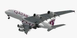 3D airbus a380 qatar airways