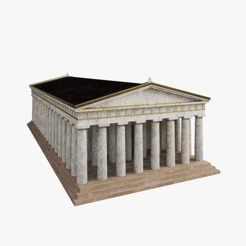 3d temple greek model