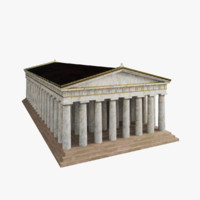 3d temple greek model