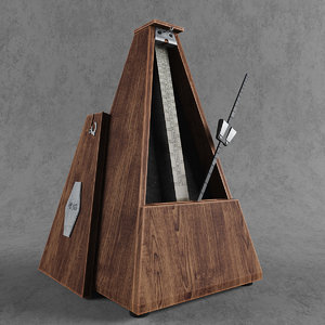 wooden metronome 3d max