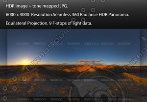 SUNRISE AT ANZA-BORREGO BADLANDS, 360 PANORAMA #575