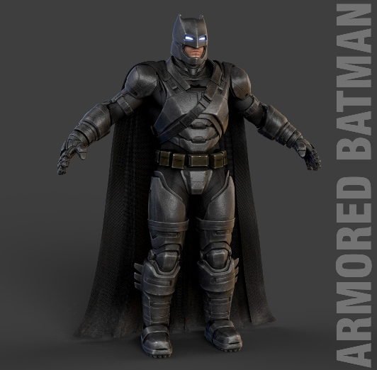 3d batman v superman model