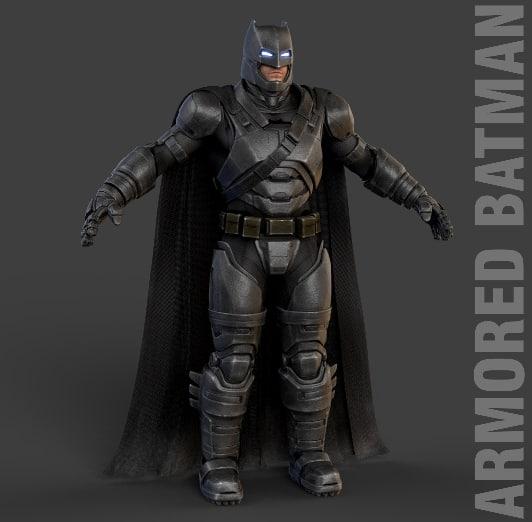 3d batman v superman model