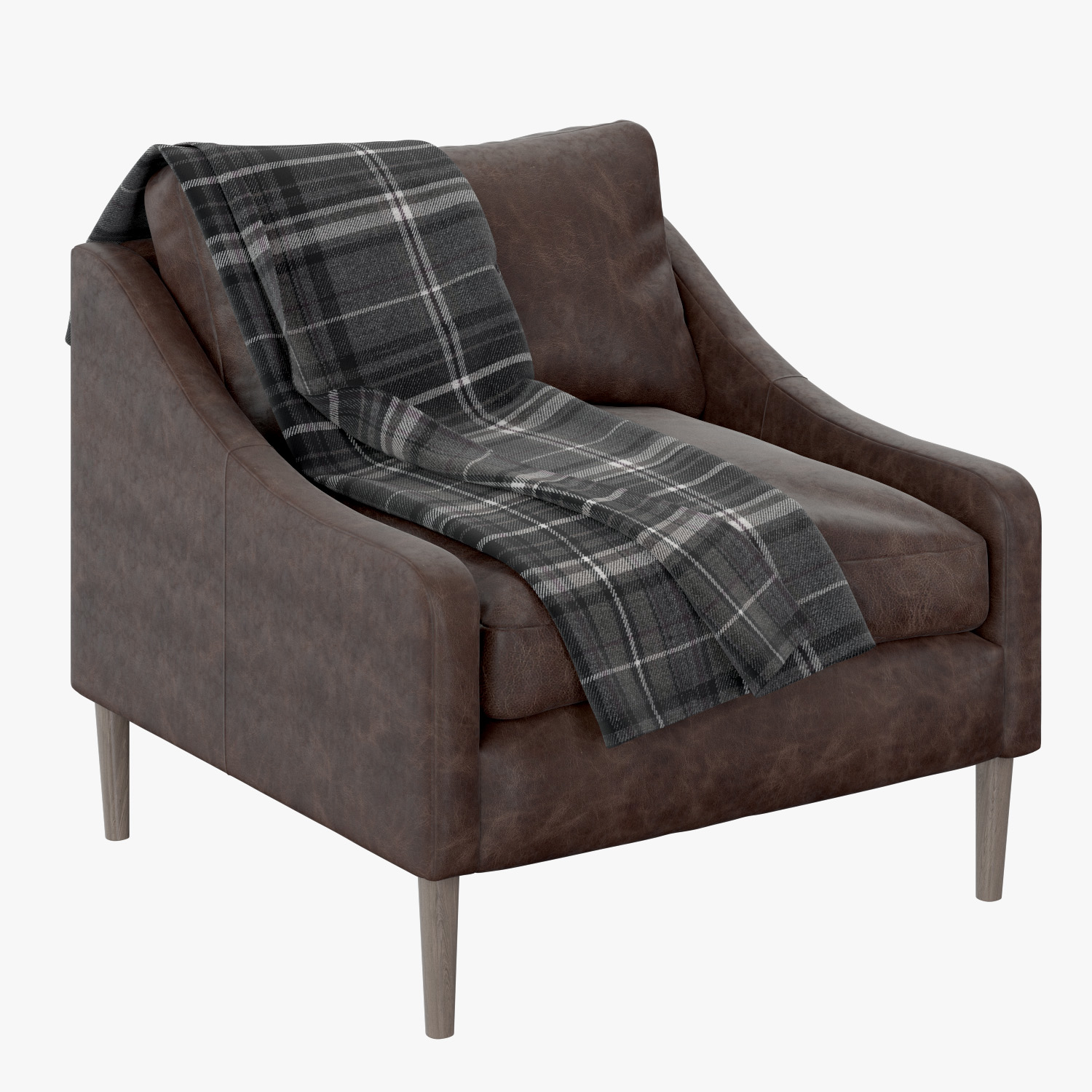 3d West Elm Lindrum Leather