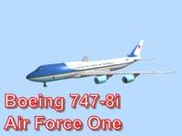 obj boeing 747-8i air force