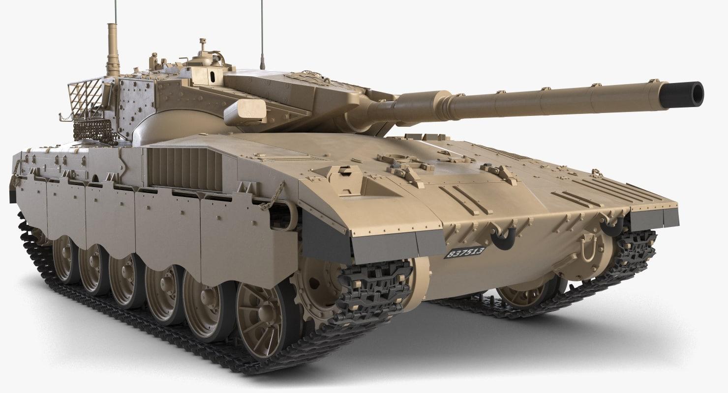 3D battle tank merkava mark
