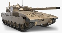 3D battle tank merkava mark