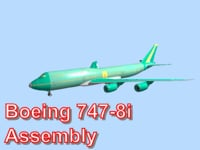 3d model boeing 747-8i assembly