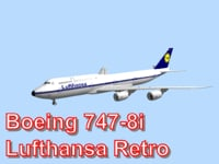 boeing 747-8i lufthansa retro 3d obj