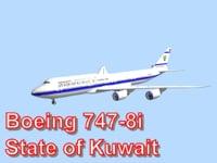 boeing 747-8i state kuwait obj