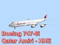 boeing 747-8i qatar amiri obj