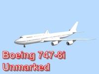 obj boeing 747-8i unmarked