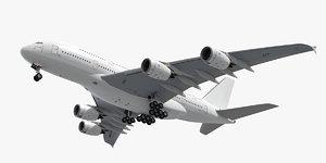 3d airbus plane generic white