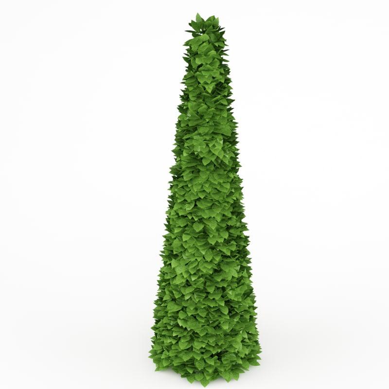 conical bush 3d max